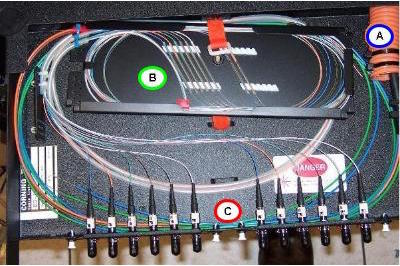 Image result for fiber optic fusion splicing tray""